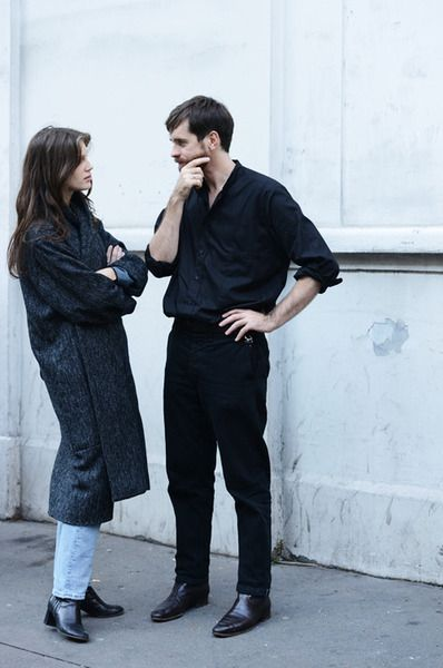Marine Vacth and Christophe Lemaire in Paris. Photo by Tommy Ton