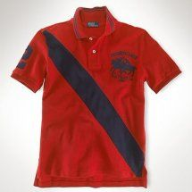 the latest 1cc15 34907 polo ralph lauren uomo dual match in barra rosso.Camicia di ...
