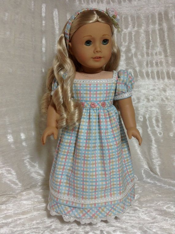RESERVED Plaid Regency dress for Caroline | dolls | Pinterest