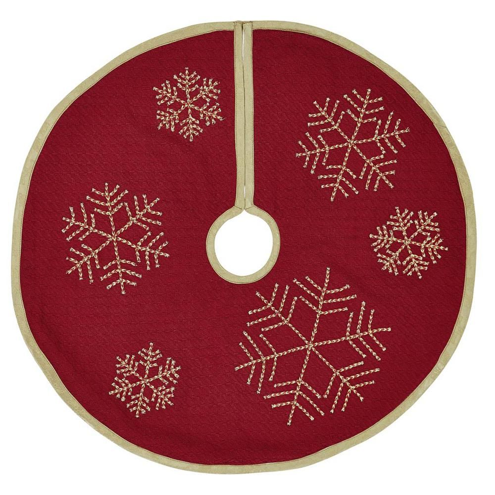 Vhc Brands 21 In Revelry Brick Red Traditional Christmas Decor Mini Tree Skirt Red Tan In 2020 Traditional Christmas Decorations Tree Skirts Mini Christmas Tree