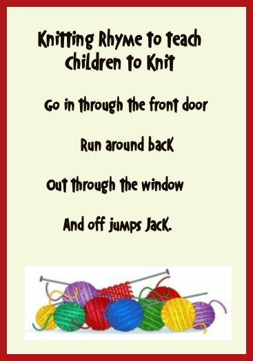 Photo of The cutest little saying that is to teach children to knit. I love it and being …