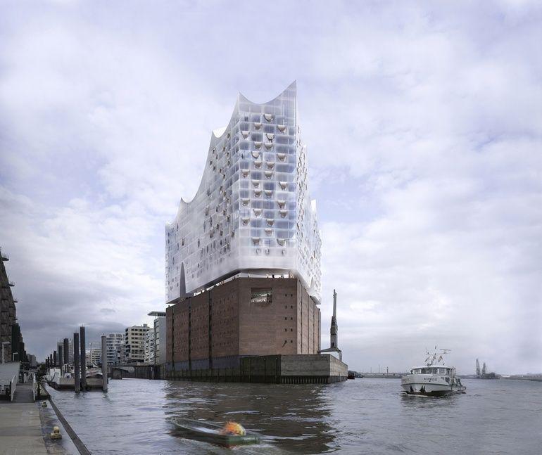 First Look Hamburg S Elbphilharmonie By Herzog De Meuron Architecture Visualization Architecture Rendering Building