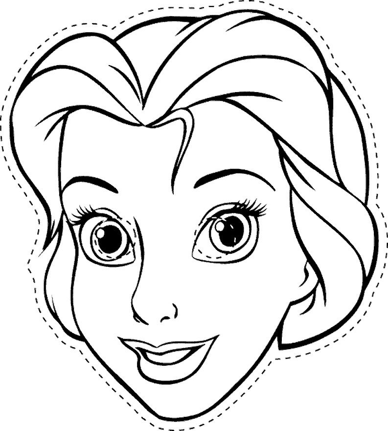 coloring pages of disney character mask coloring