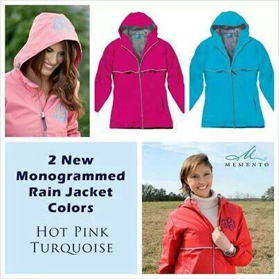 New colours on rain jackets..or  as America spells it colors
