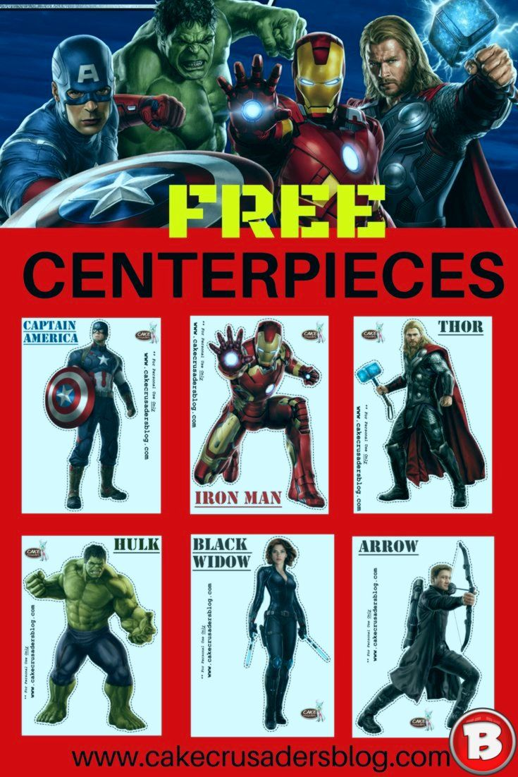How to make Avengers Party Decorations Centerpieces -