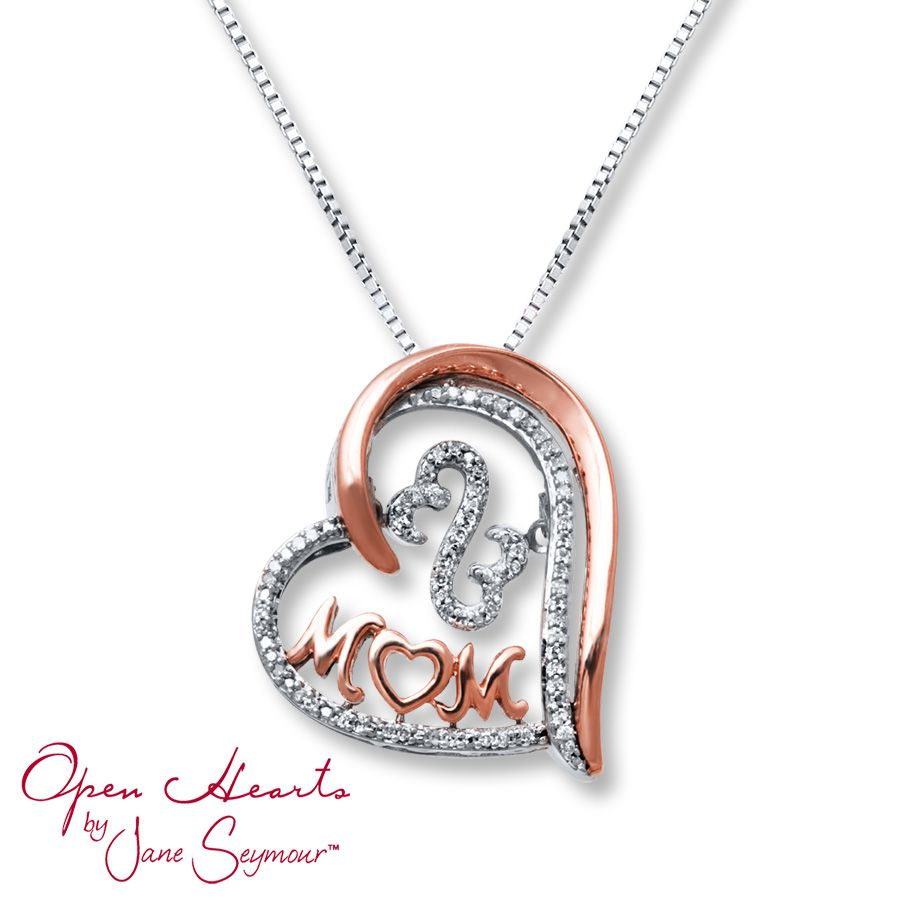 810e0c70c Open Hearts Rhythm Diamond Necklace Sterling Silver/10K Gold  #BestMomEverSweeps