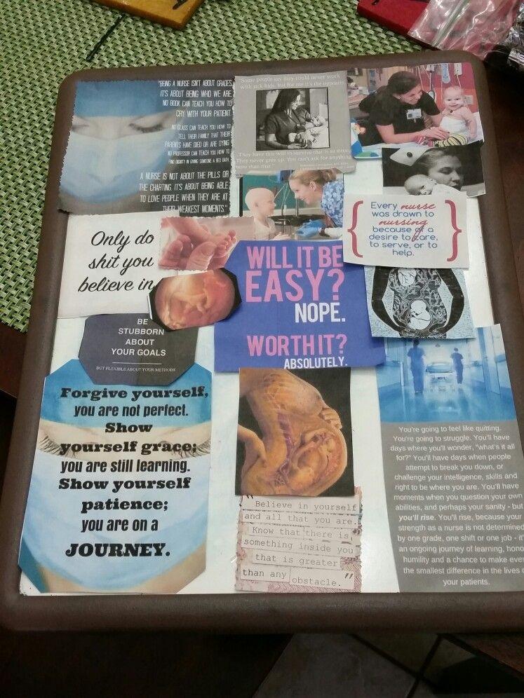 My motivation board Nurse inspiration, Motivation board