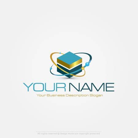 Design Space cube logo Online with Our Free 3D logos maker