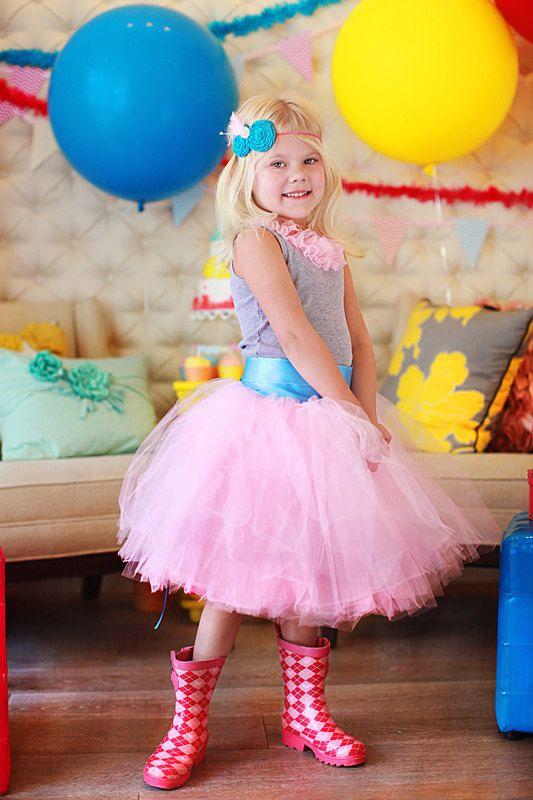 gorgeous cotton candy tutu
