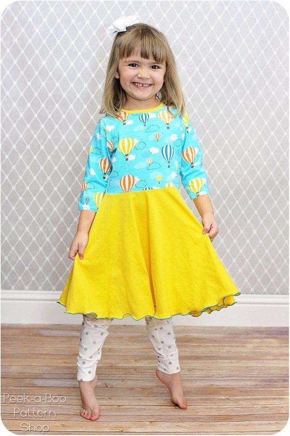 9c9346b9c3948 Gloria Circle Skirt Add-On Pack Sewing Pattern: Circle Skirt Dress, Peplum  Top
