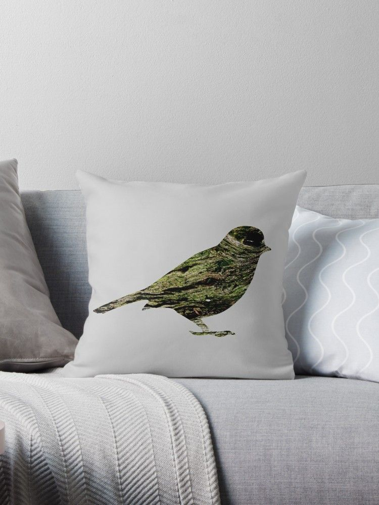 Olive Tree Wood Sparrow\u0027 Throw Pillow by Anna Lemos in 2018 Daily