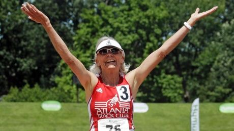 'fitness age' of senior athletes knocks 20 years off their