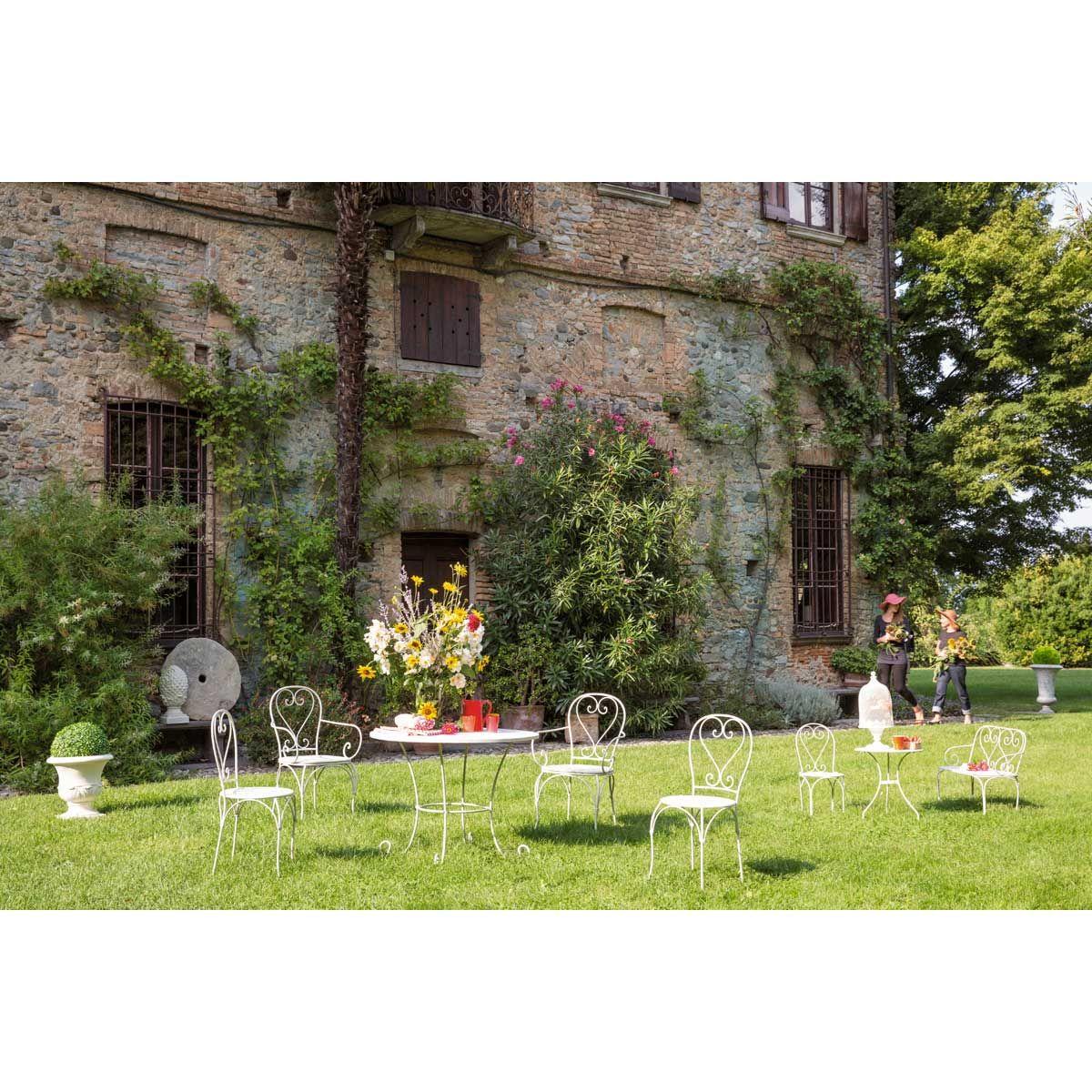Fauteuil de jardin fer forg blanc saint germain meubles jardin garden pergola et party - Mobilier jardin blanc saint etienne ...