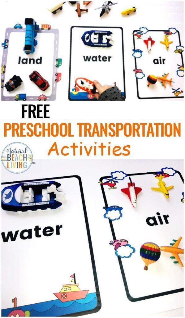 Preschool Transportation Theme Printables Sorting Land Air Water Transport Natural Beach Living Transportation Activities Transportation Preschool Activities Transportation Preschool Water transport worksheets for