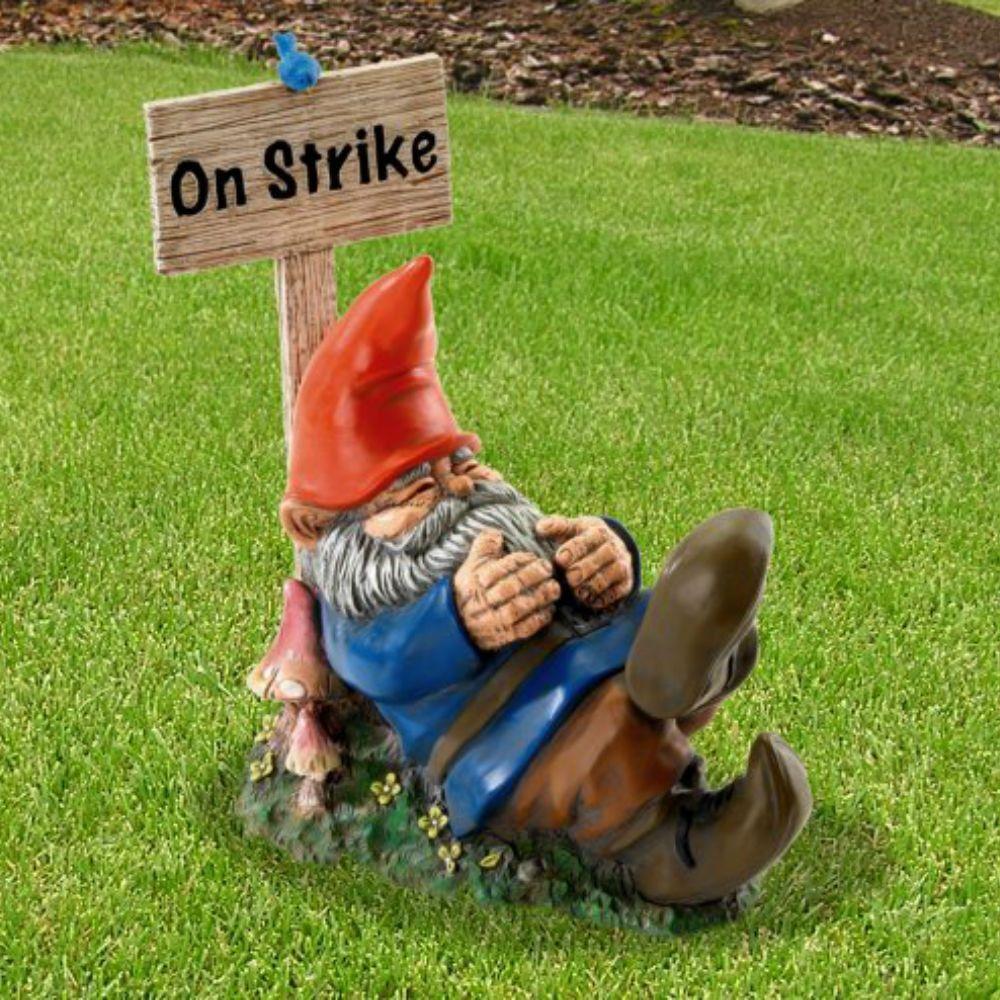On Strike Sleeping Gnome | Gnomes and Gardens