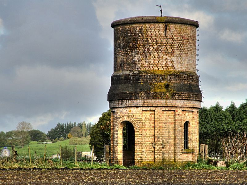 Old water tower, Lichfield, Waikato, New Zealand