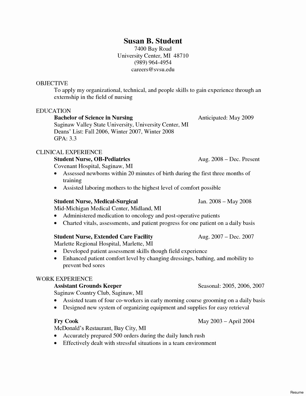 27 Nursing Student Cover Letter In 2020 Student Nurse Resume