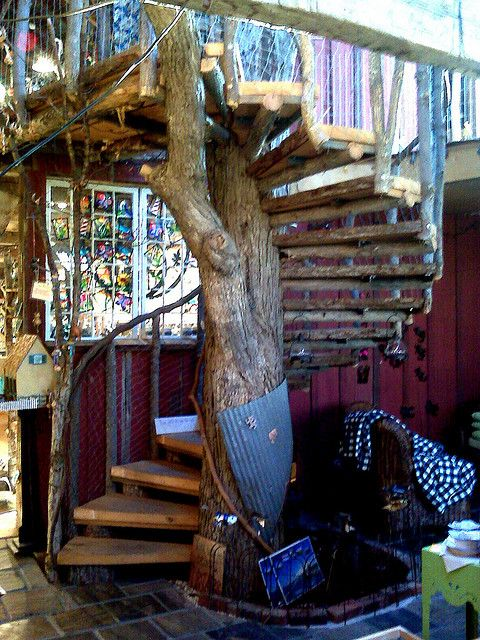 Spiral Staircase Built Around Tree by asmith14850, via Flickr