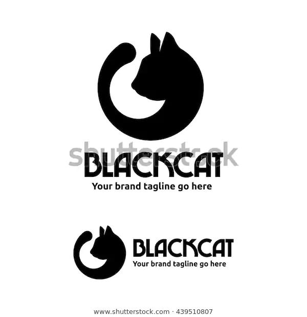 Black Cat Logo Cat Head Tail Stock Vector Royalty Free 439510807 In 2020 Cat Logo Black Cat Stock Vector