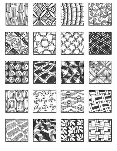 Grid10 | Zentangle, Dessins zentangle et Griffonnages