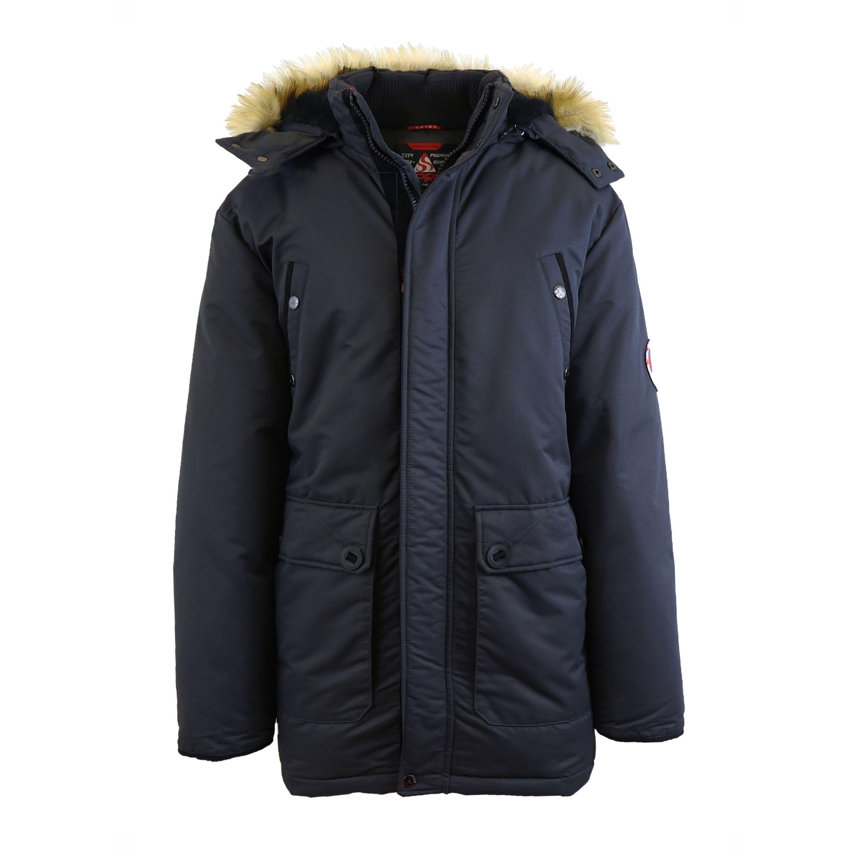 b83e71c86 Spire By Galaxy Men's Heavyweight Parka Jacket With Detachable Hood ...