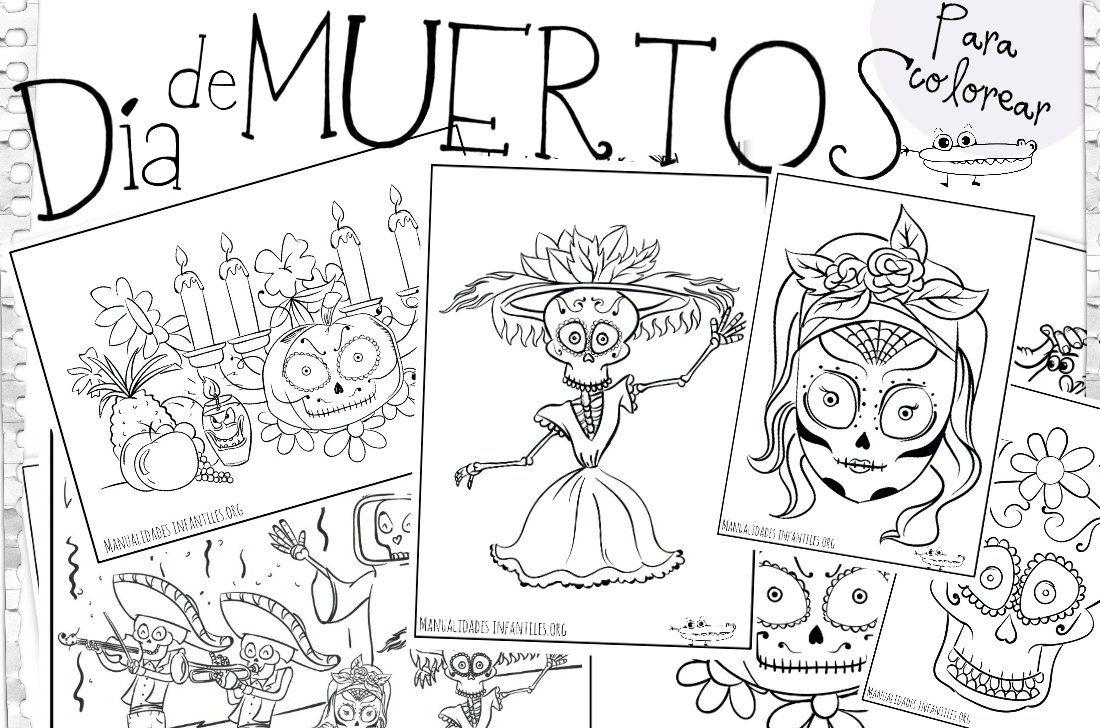 Dibujos De Calaveras Bonitas Para Colorear: Dibujos Día De Muertos