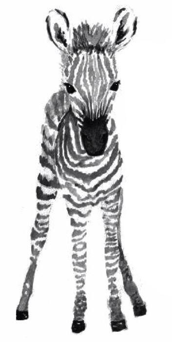 cb453aca6 Cute baby zebra tattoo design | art in 2019 | Zebra illustration ...