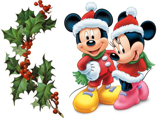 Disney Christmas Mickey and Minnie Mouse Greeting Card - Puzzles ...
