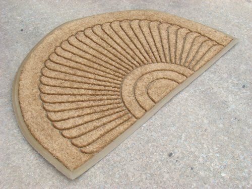 "Coco Fiber Half Round In-laid Doormat (30"" X 48"") by William F. Kempf Cocomats. $55.00. Made from Natural Coco Fibers and Recycled Rubber. Anti-Slip rubber backing. Long Lasting; Heavy Duty. Traps dirt and moisture. Enviormentaly Friendly; Biodegradable. Half Round Sunray. Color: Beige. High quality components. Satisfaction ensured. Dimensions: 30"" L x 0.50"" H x 48"" W."