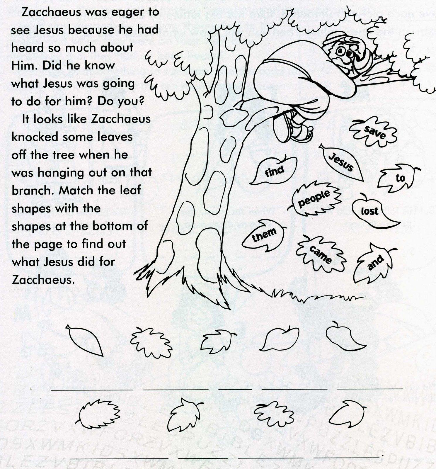 Zacchaeus Image In