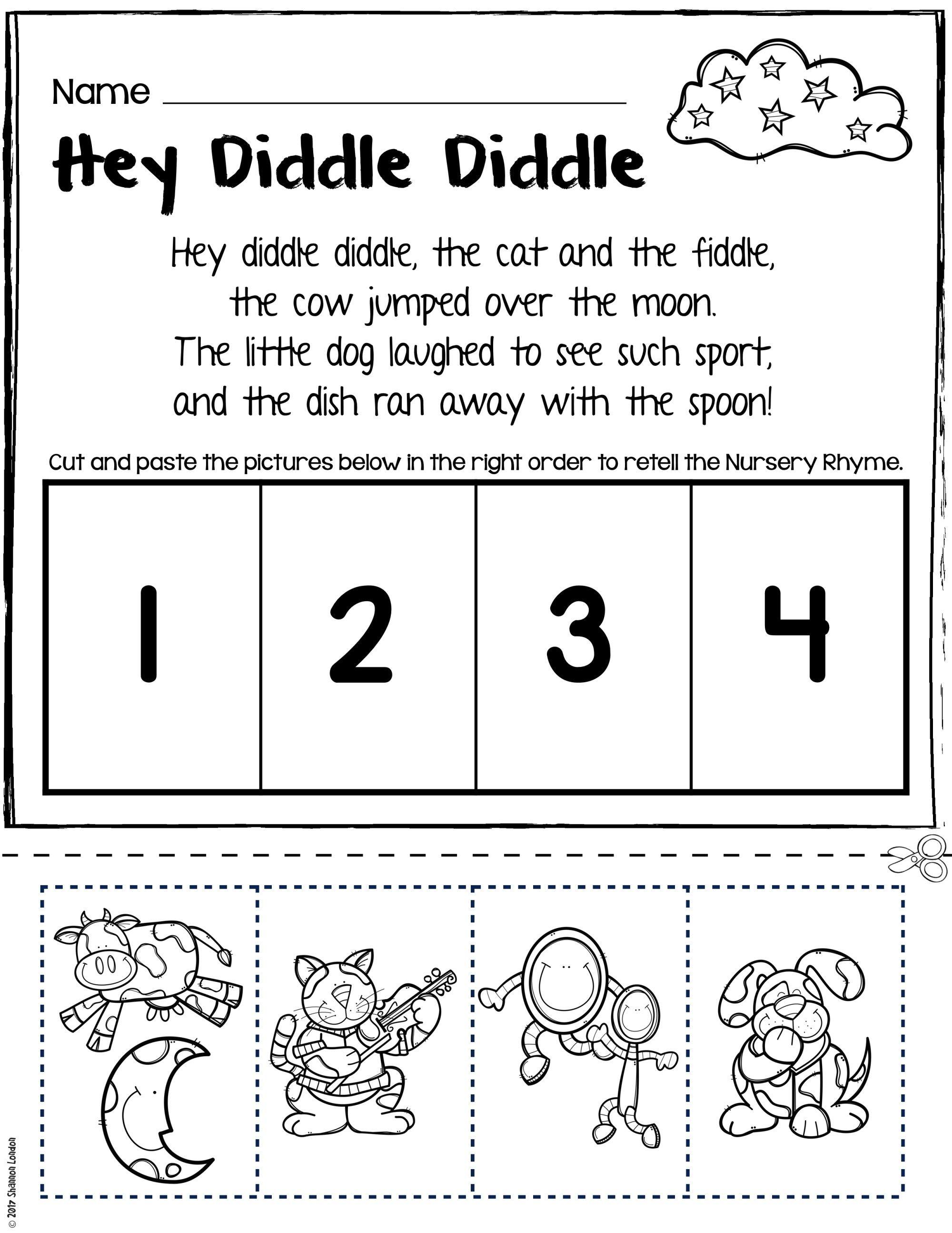 Teach Story Retelling With Nursery Rhymes Rhyming Worksheet Nursery Rhymes Preschool Activities Rhyming Words Worksheets [ 2588 x 2000 Pixel ]