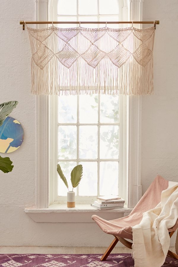 Harlow Macrame Valance Urban Outfitters Home Home Decor Home