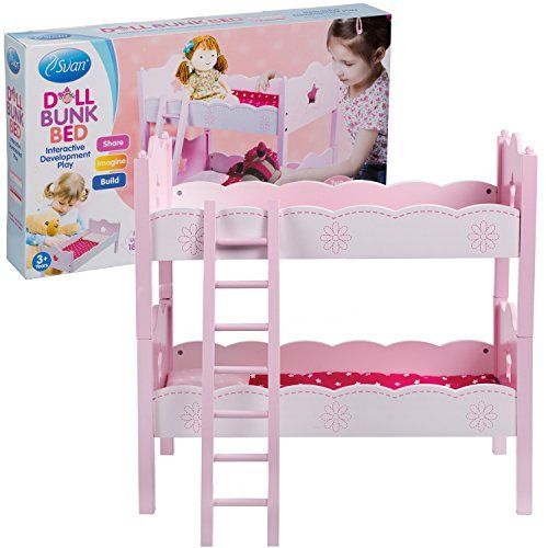 Svan Doll Bunk With 2 Beds Pillows Blankets And A Ladde
