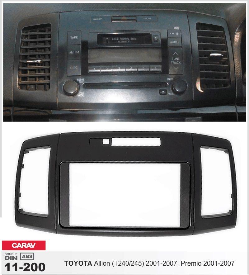 Frame Android 6 0 Car Dvd Player For Toyota Allion Premio 2001