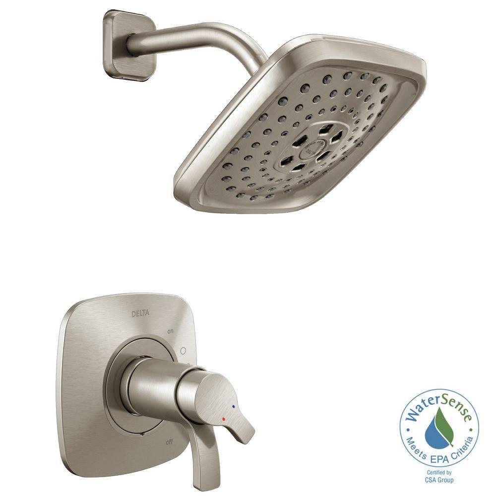 Delta Tesla Single Handle 3 Spray Shower Faucet Trim Kit In