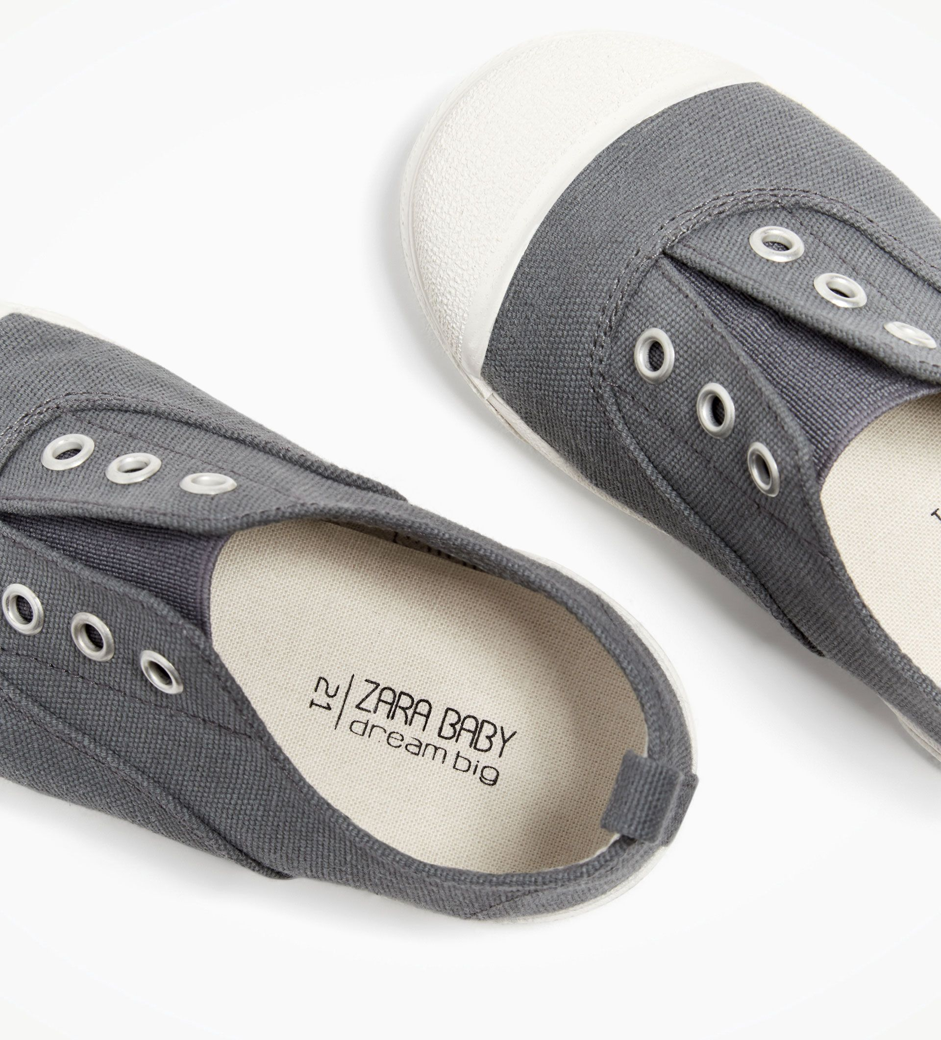 Image 6 of FABRIC PLIMSOLLS WITH CAP TOE from Zara