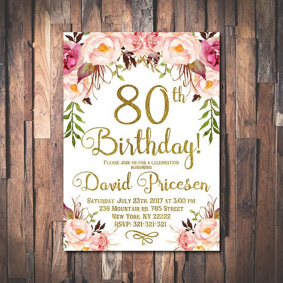 80th birthday invitation for women 80th birthday invitation 80th 80th birthday invitation for women 80th birthday invitation 80th birthday floral party invitation womens birthday roses 1024 filmwisefo