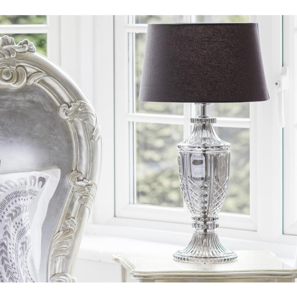 Intrixia Table Lamp In Silver Grey   French Bedroom Lamps