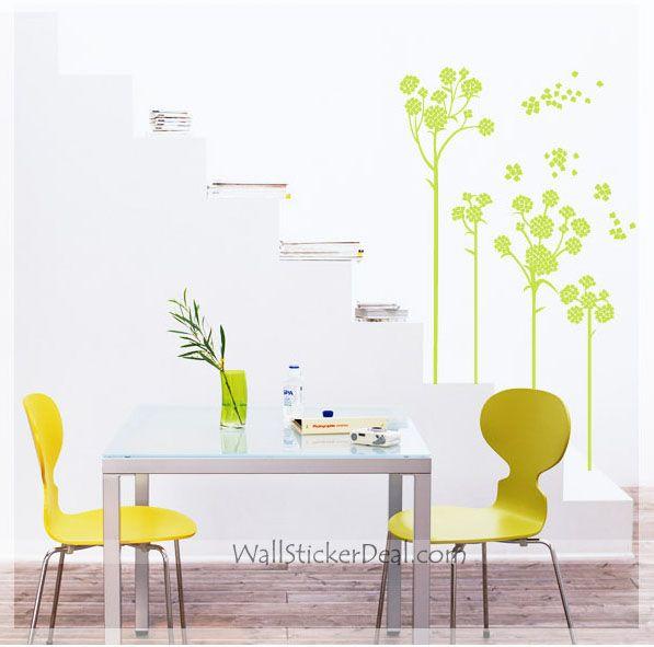 Blow Flower Wall Decals Flower Wall Decals Pinterest Flower - Yellow flower wall decals
