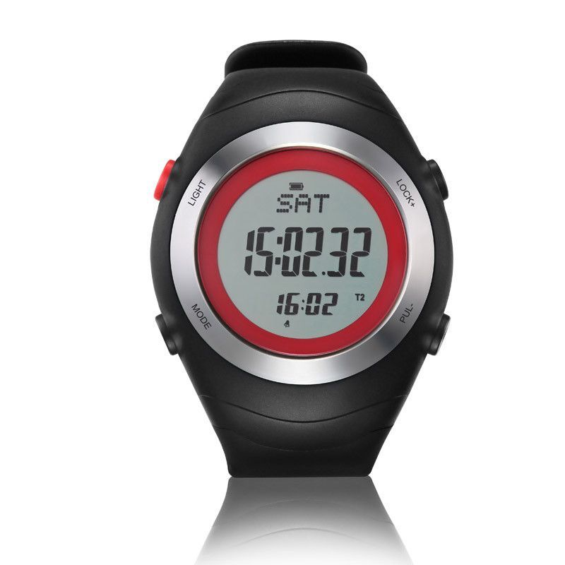 NORTH EDGE Heart Rate Monitor Pedometer Calories Men Sports Watches Outdoor Fun Digital Watch Running Hiking Wristwatch Clock
