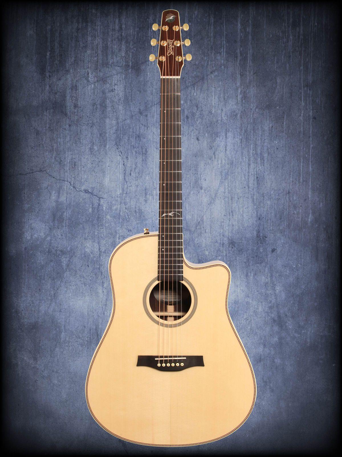 Seagull artist studio cutaway acoustic electric guitar