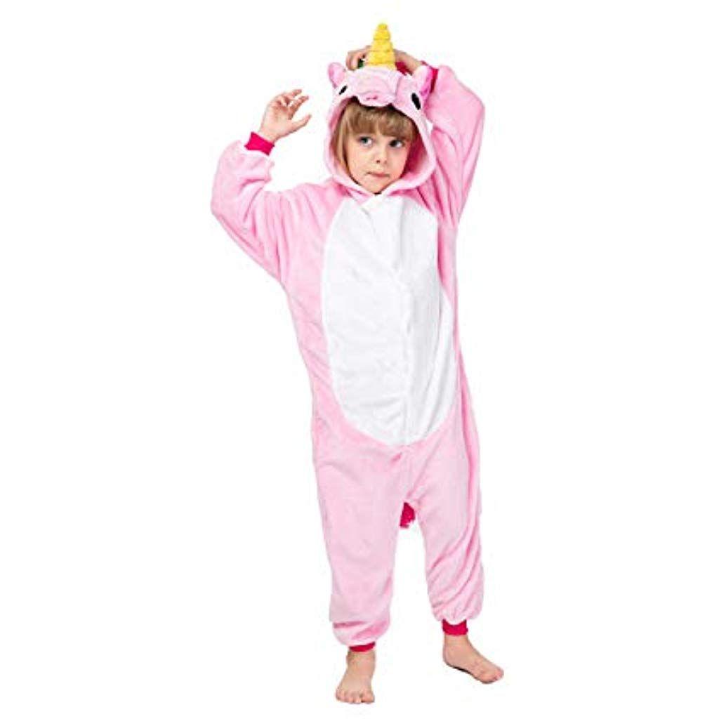 d3b13ab667ac0 Combinaison Pyjama Grenouillere Kigurumi Babygros Unisex pour Enfant Fille  ou Garcon Motifs Animaux