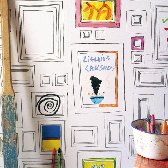 Love this wallpaper: Rahmen Schwarz/Weiß | Design little things ...