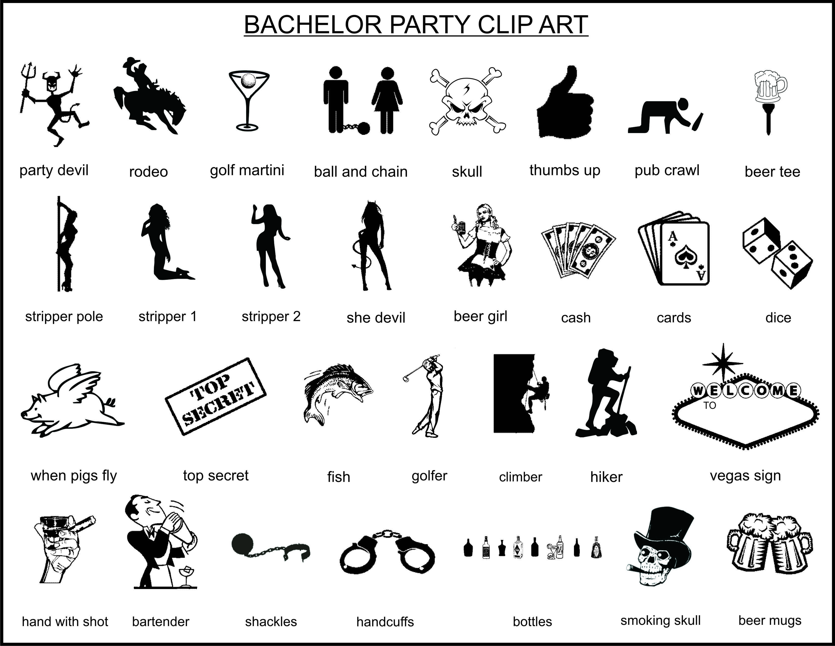 hight resolution of bachelor party clipart clipartfest