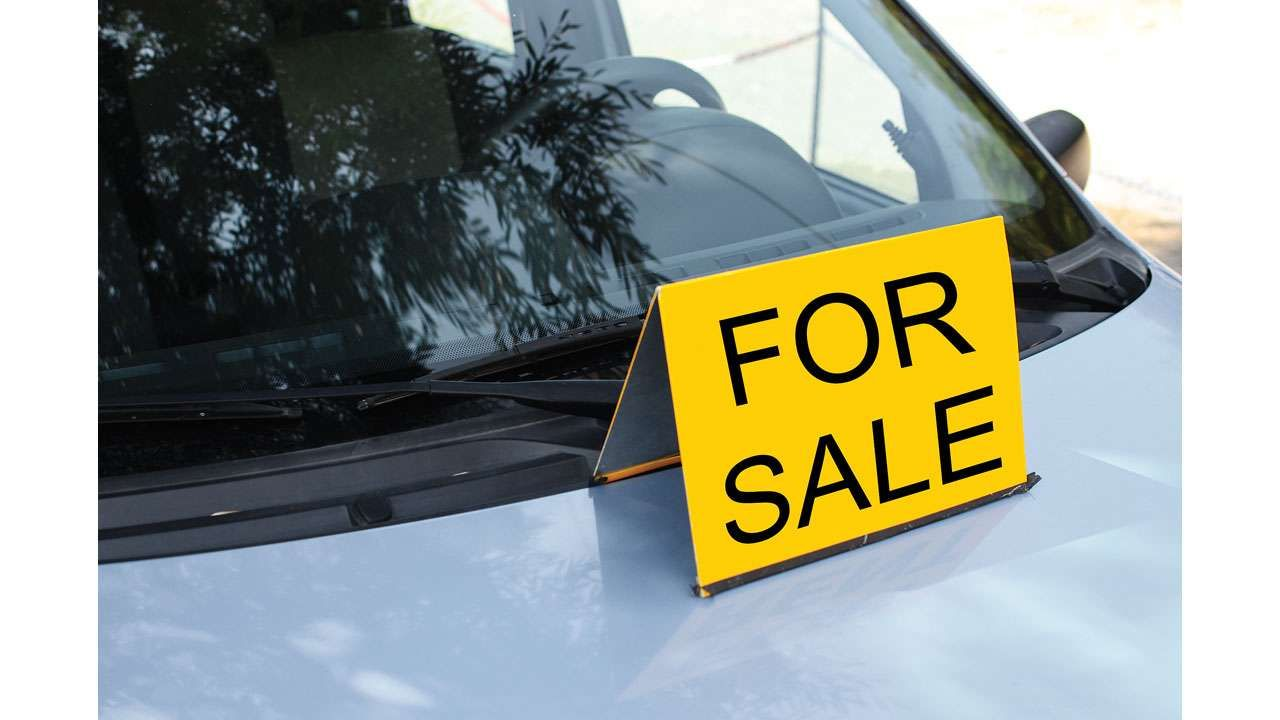 Buying a secondhand car? Sell car, For sale sign, Car