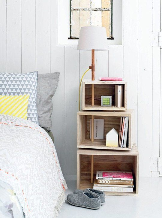 Comodini originali per la camera da letto 20 idee lasciatevi ispirare wood ideas - Comodini per camera da letto ...