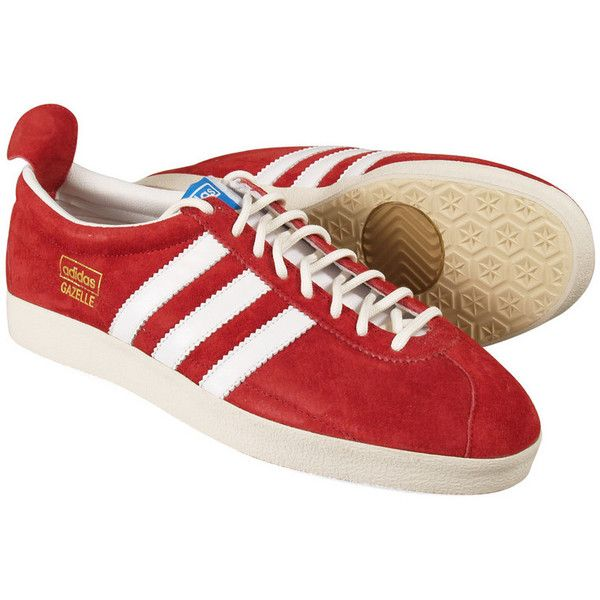 plus récent 6b0b9 c3d88 Adidas Gazelle Vintage (Red) ($125) ❤ liked on Polyvore ...