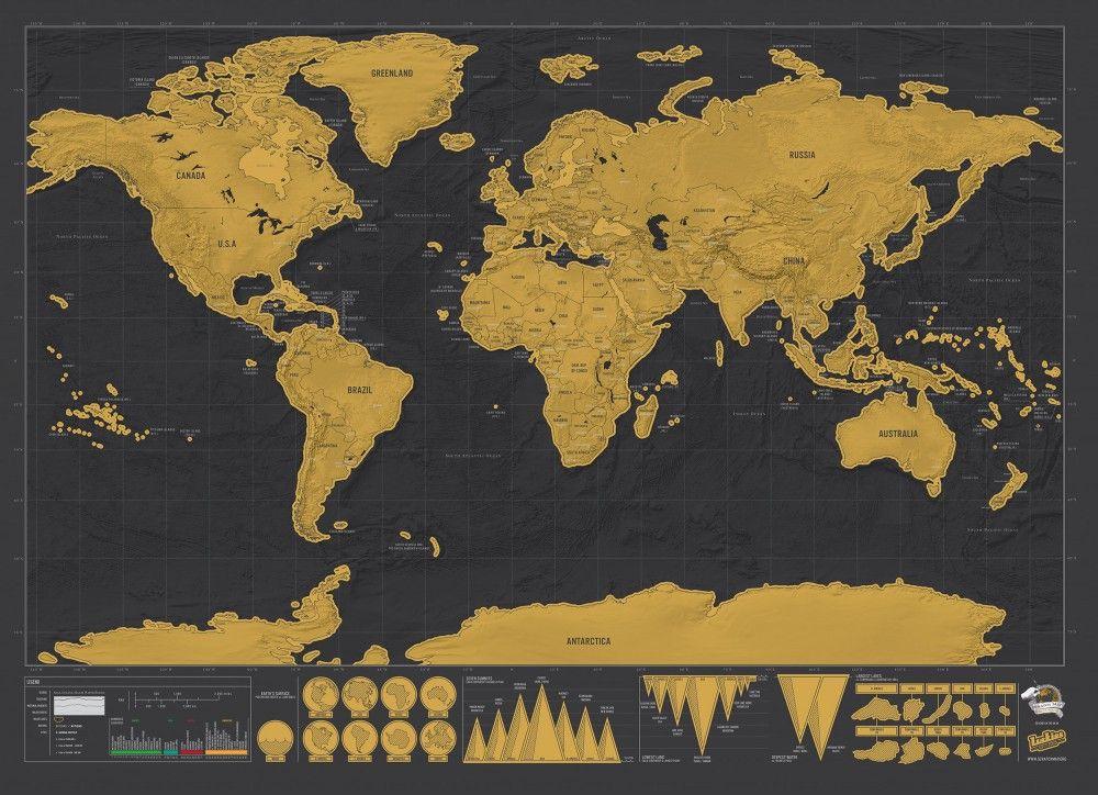 Carte du monde gratter luxe edition d coration maison for Carte du monde maison du monde