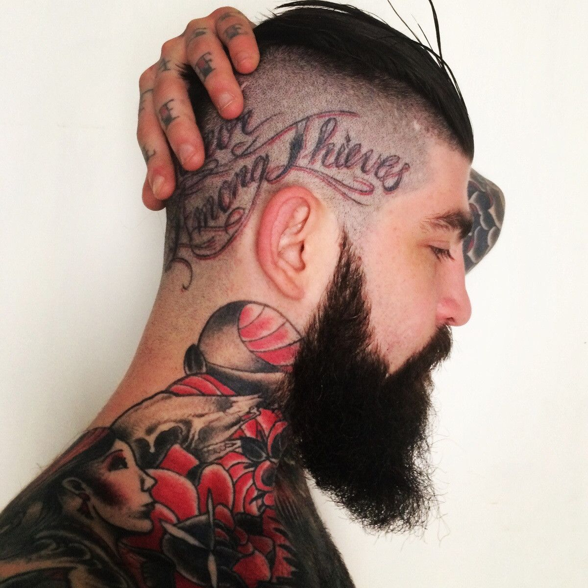 Head n neck hipster beard and other vices pinterest tattoo