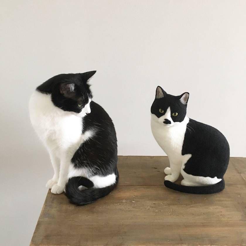 今にも動き出しそうな羊毛フェルトの猫たちに出会える猫ラボ個展 エキサイトニュース 2 2 フェルト 猫 ニードルフェルト猫 羊毛フェルト 猫 作り方